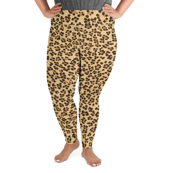 Leopard Print Camouflage Pattern Plus Size Leggings