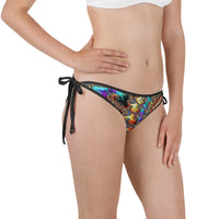 Falling Inward Fractal Art Bikini Bottom with Adjustable Straps