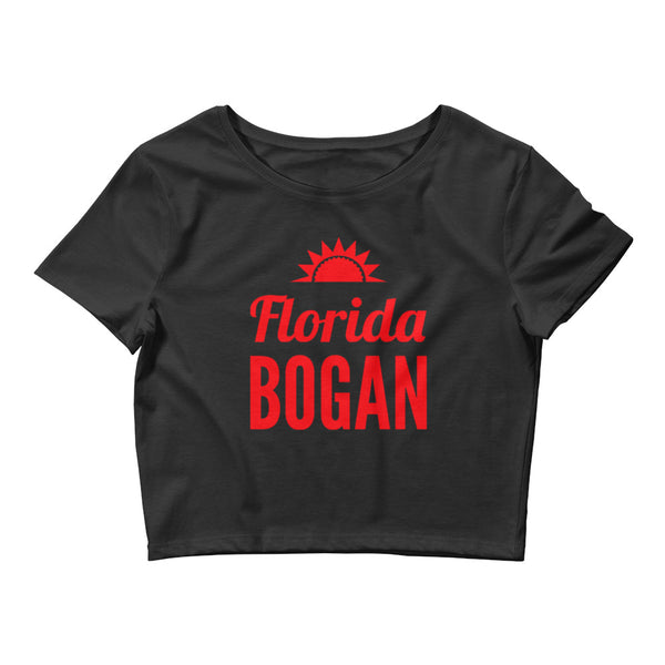Florida Bogan Small Framed Women's Crop Top Shirt