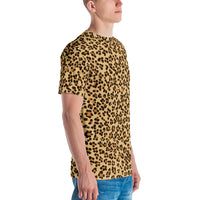 Leopard Print Camouflage Pattern All Over Print Crew Cut Short-Sleeve Men's T-shirt