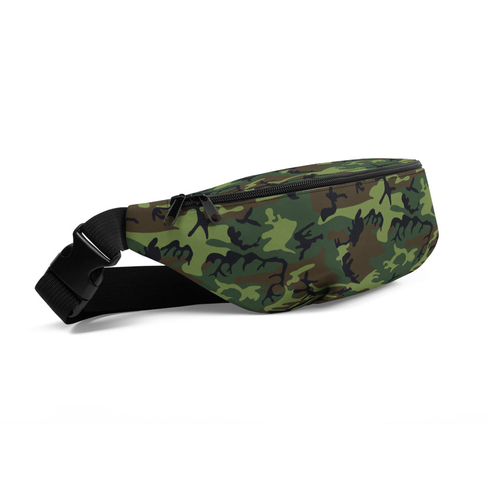 Woodland Camouflage Style Pattern Fanny Pack