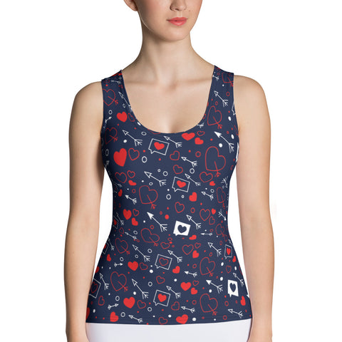 Loving Hearts All Over Print Women's Tank Top