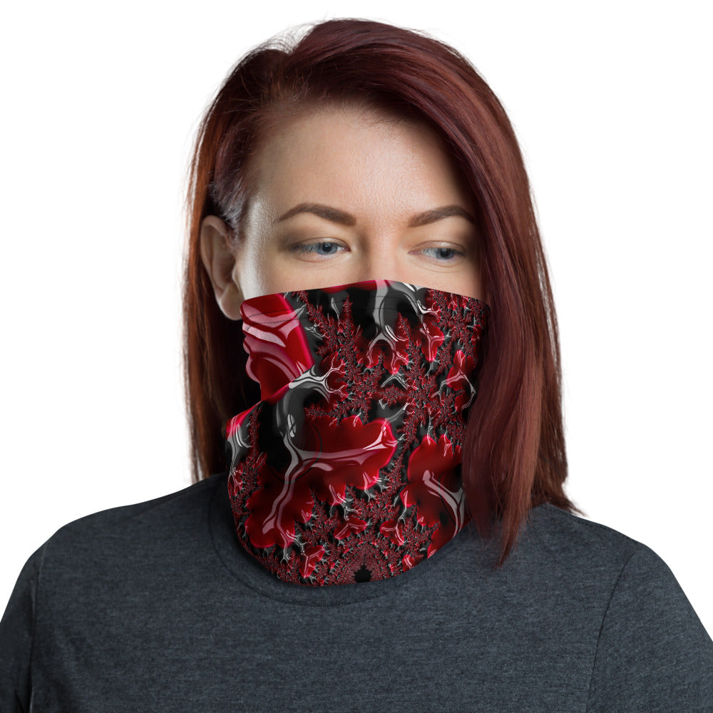 Cthulhu's Blood Fractal Art All Over Print Neck Gaiter