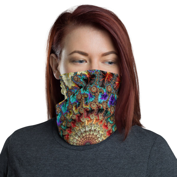 Falling Inward Fractal Art All Over Print Neck Gaiter
