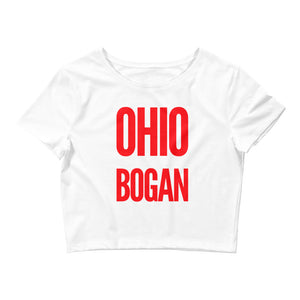 Ohio Bogan Small Framed Women's Crop Top Shirt