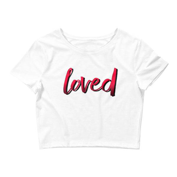 Loved Small Framed Women's Crop Tee