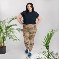 Desert Camouflage Pattern Plus Size Leggings