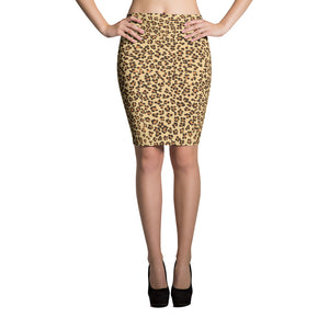Leopard Print Camouflage Pattern Pencil Skirt
