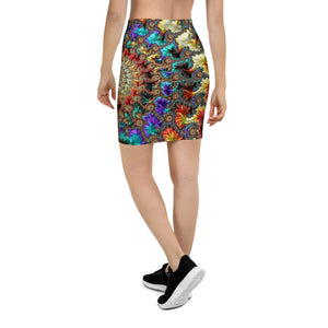 Falling Inward Fractal Art Pencil Skirt