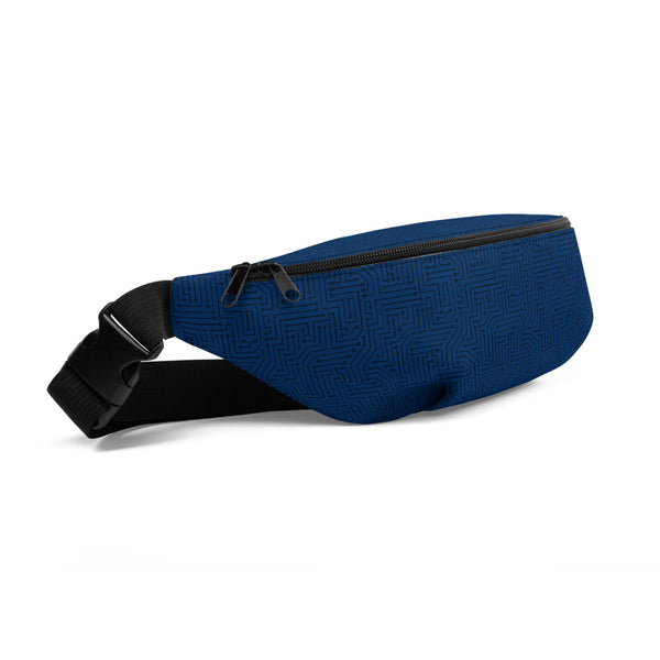 American Bogan Blue With Texture Print Fanny Pack