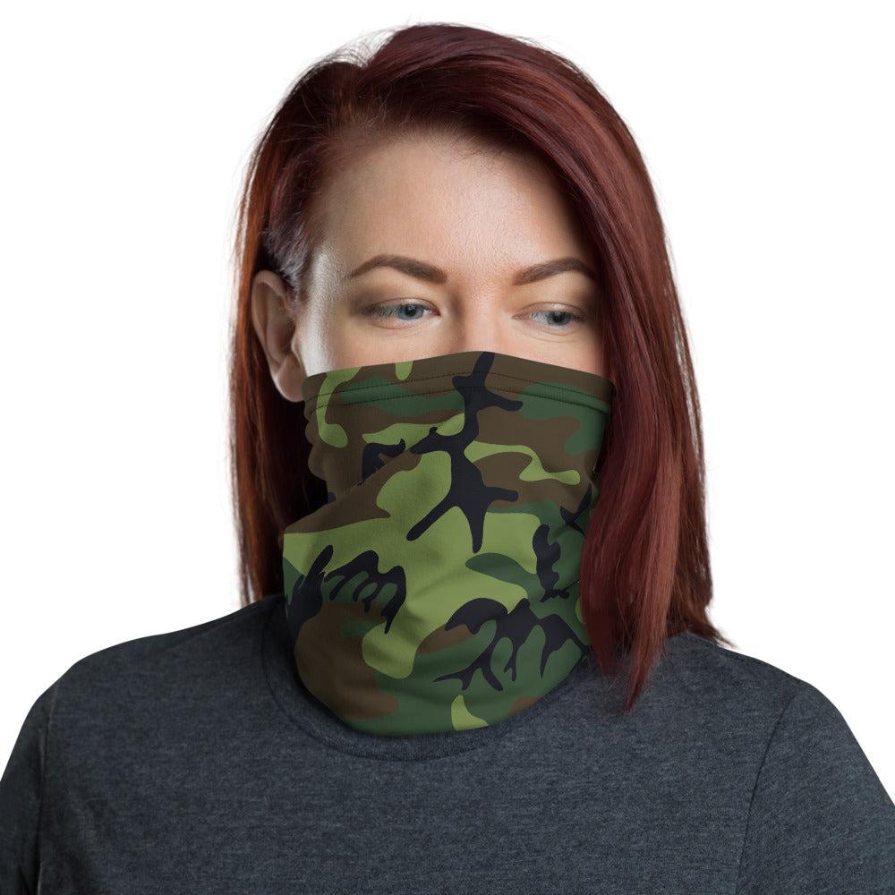 Woodland Camouflage Style Pattern All Over Print Neck Gaiter