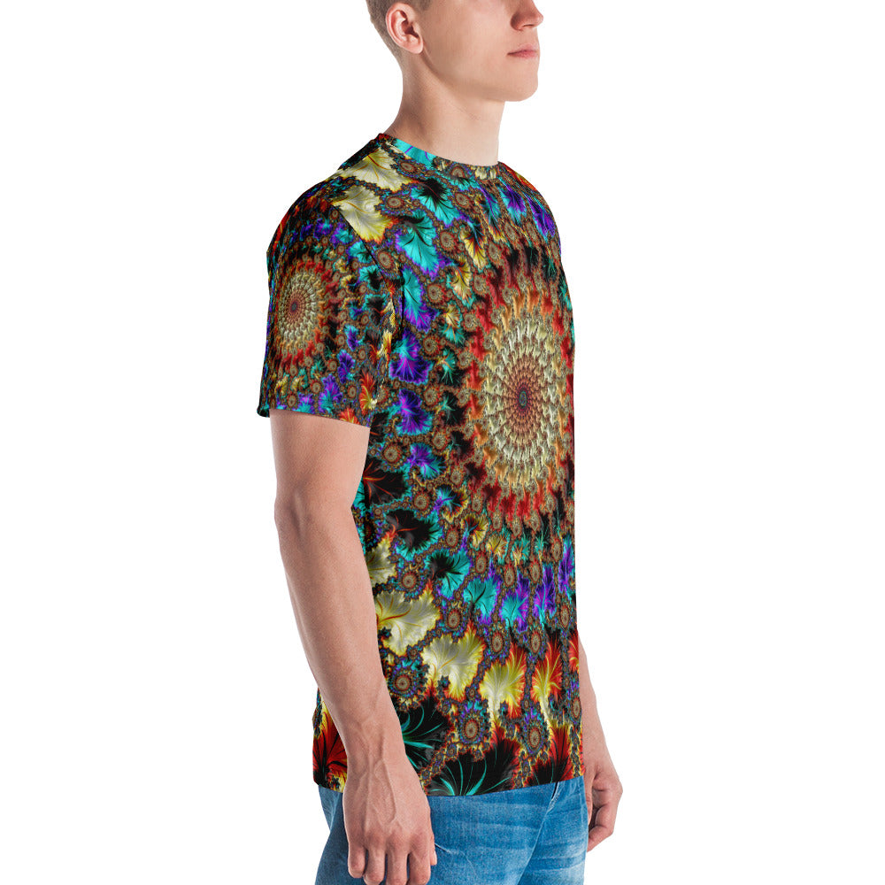 Falling Inward Fractal Art All Over Print Crew Cut Short-Sleeve Men's T-shirt