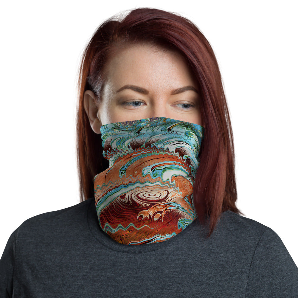 Jupiter's Winds Fractal Art All Over Print Neck Gaiter