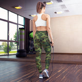 Woodland Camouflage Style Pattern Yoga Leggings