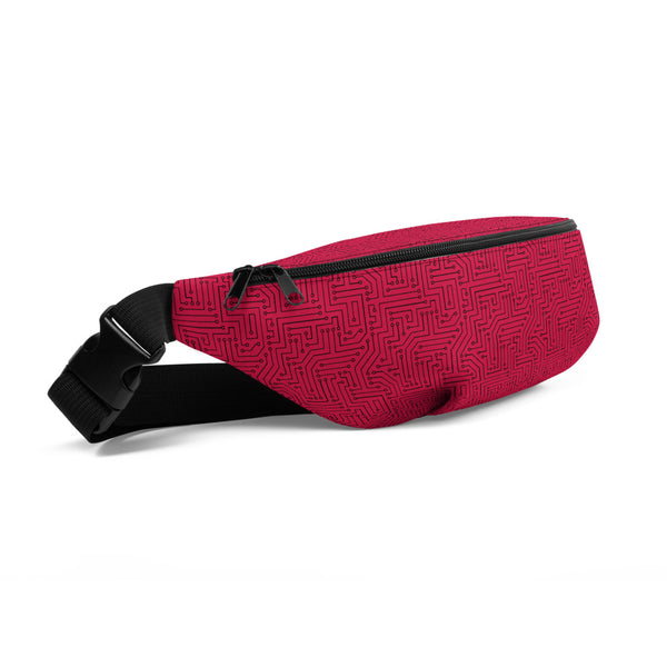 American Bogan Red With Texture Print Fanny Pack