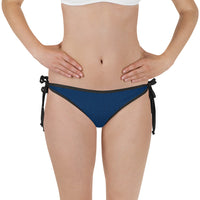 American Bogan Blue With Texture Print Bikini Bottom with Adjustable Straps