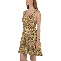 Leopard Print Camouflage Pattern Skater Dress