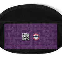Imperial Purple With Texture Print Fanny Pack