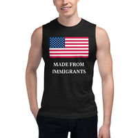 Made From Immigrants Branded Unisex Muscle Shirt (Front and Back Print)