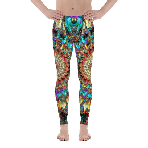 Falling Inward Fractal Art Men's Leggings