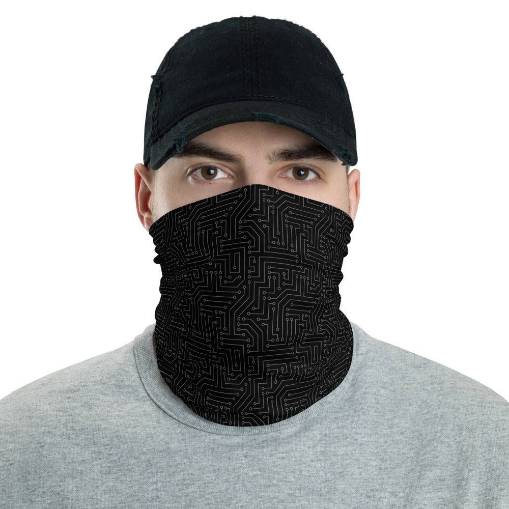 American Bogan Black With Texture All Over Print Neck Gaiter