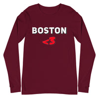 I Love Boston Unisex Long Sleeve Tee