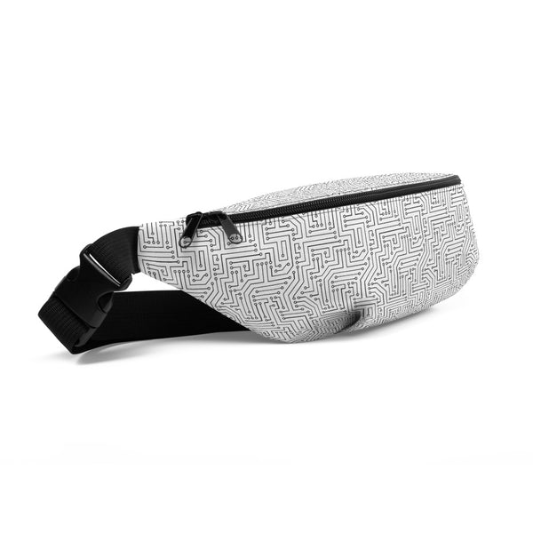 American Bogan White With Texture Print Fanny Pack