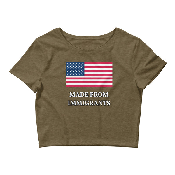 Made From Immigrants Small Framed Women's Crop Tee