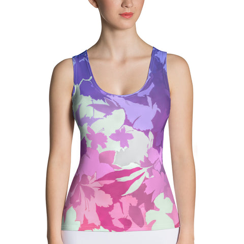 Flower Prism All Over Print Women's Tank Top