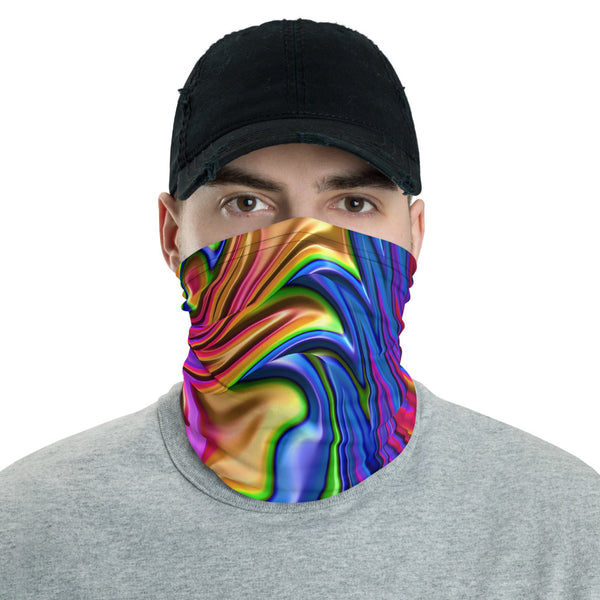 Liquid Prism Fractal Art All Over Print Neck Gaiter