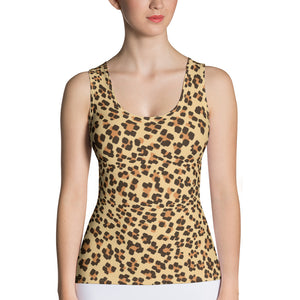 Leopard Print Camouflage Pattern All Over Print Women's Tank Top