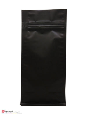 1 lb Block Bottom Bag with Pocket Zipper