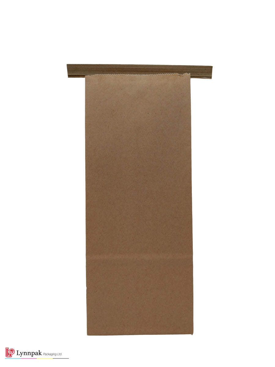0.5 lb Natural Kraft Paper Bag with Tin Tie - 1000 Pcs/Box