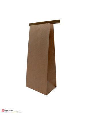 0.5 lb Natural Kraft Paper Bag with Tin Tie