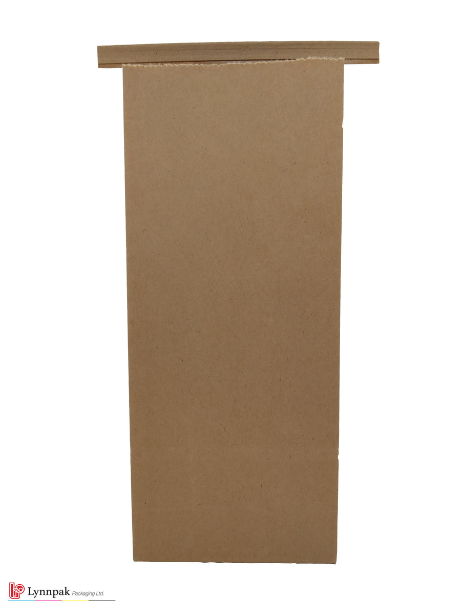 1 lb Natural Kraft Paper Bag with Tin Tie - 1000 Pcs/Box