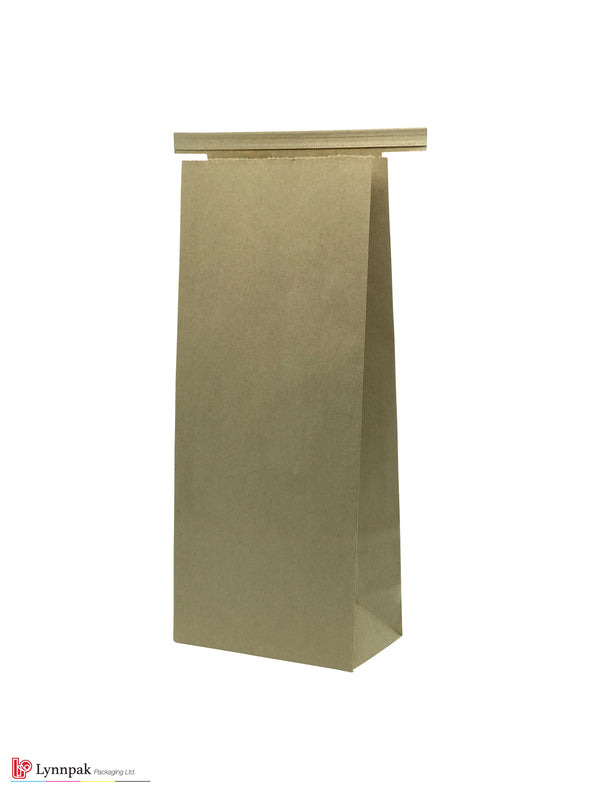 1 lb Natural Kraft Paper Bag with Tin Tie