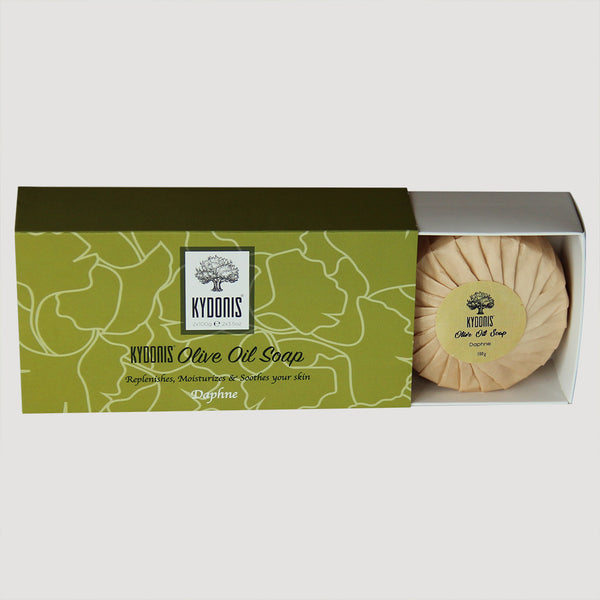 Daphne Olive Oil Soap Round Box (2 x 3.5oz) | kydonisnew