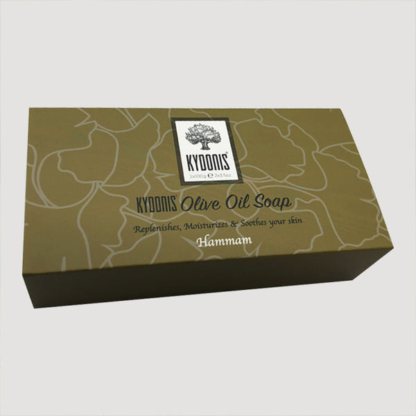 Hammam Olive Oil Soap Round Box (2 x 3.5oz) | kydonisnew