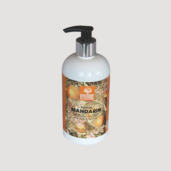Mandarin Liquid Olive Oil Soap (13.5oz) | kydonisnew