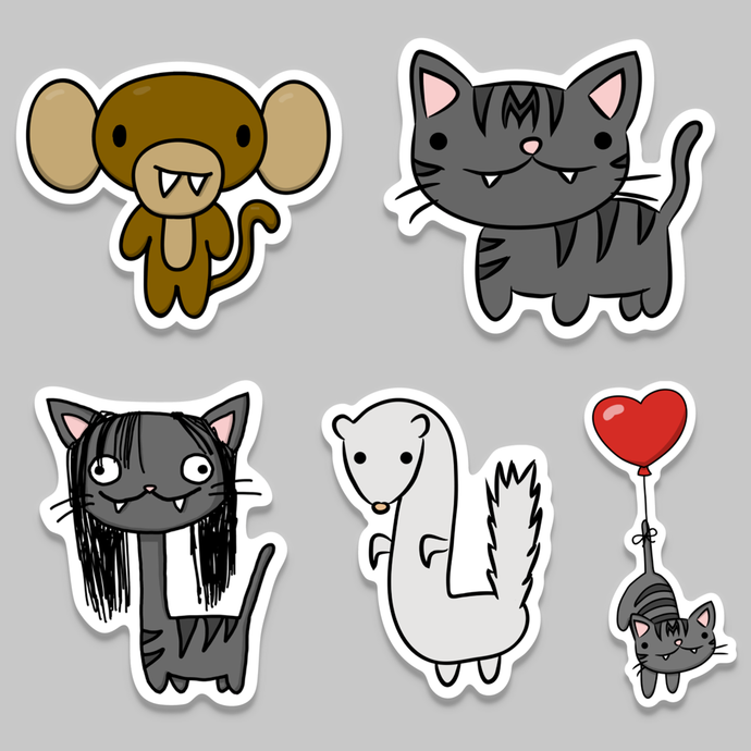 Momo & Pals Sticker Bundle #1