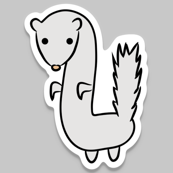 Kunie the Ferret Vinyl Sticker