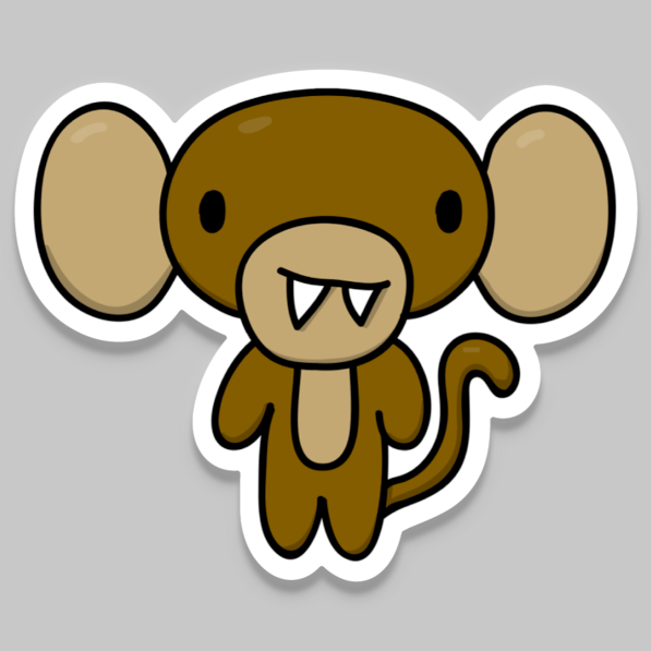 Tiny Monkey Vinyl Sticker