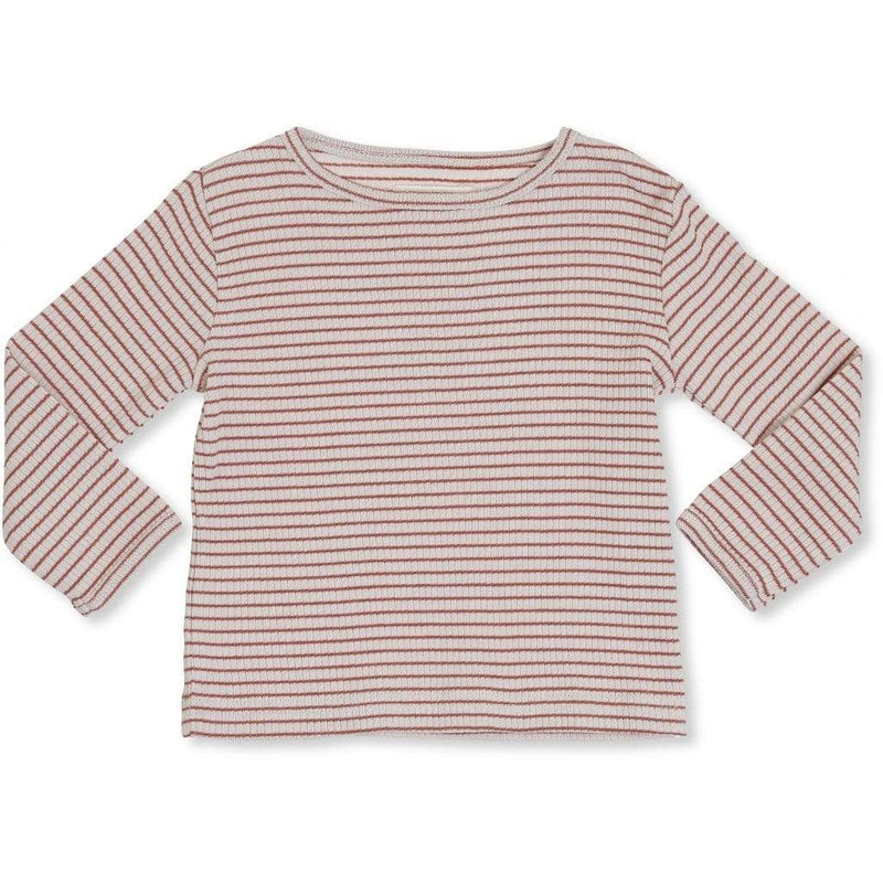 Konges Slojd Stripe Ribbed Long Sleeve Top