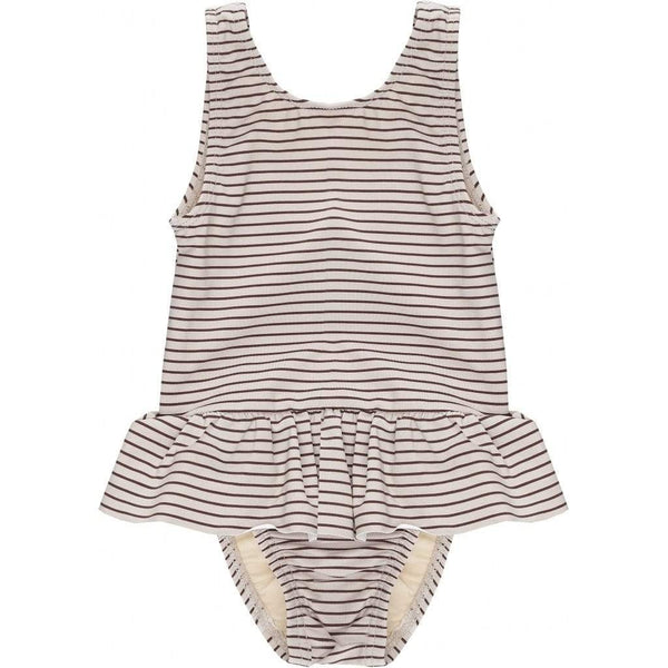 Konges Slojd Stripe Ruffle Swimsuit