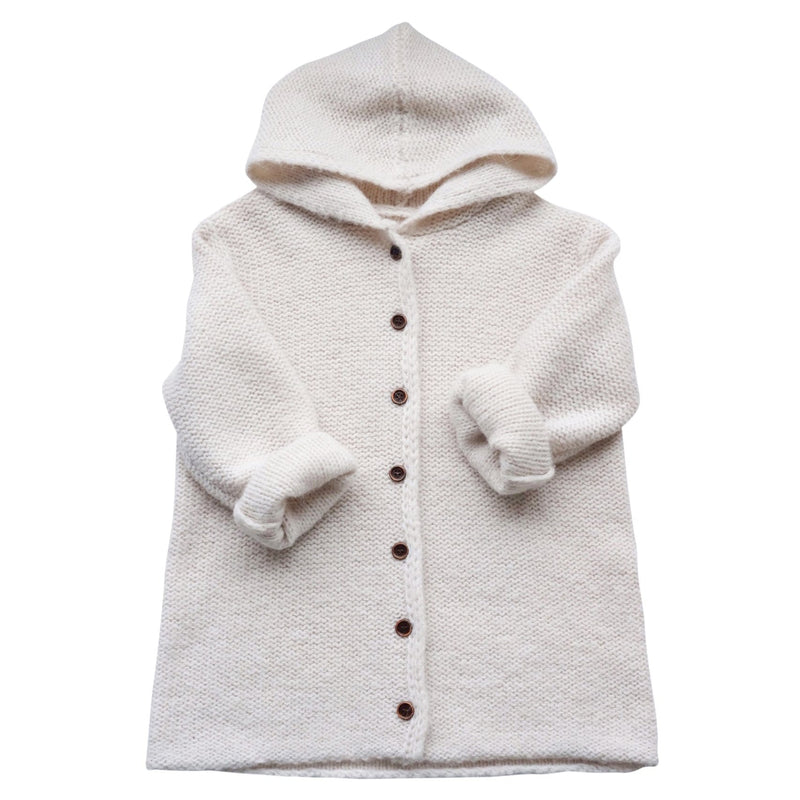 Maed For Mini Chunky Knit Longline Cardigan with Hood