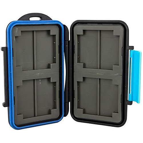 Jjc MC-2 4x CF and 8x SD 4 inch Memory card case (For 4x CF and 8x SD, Blue)