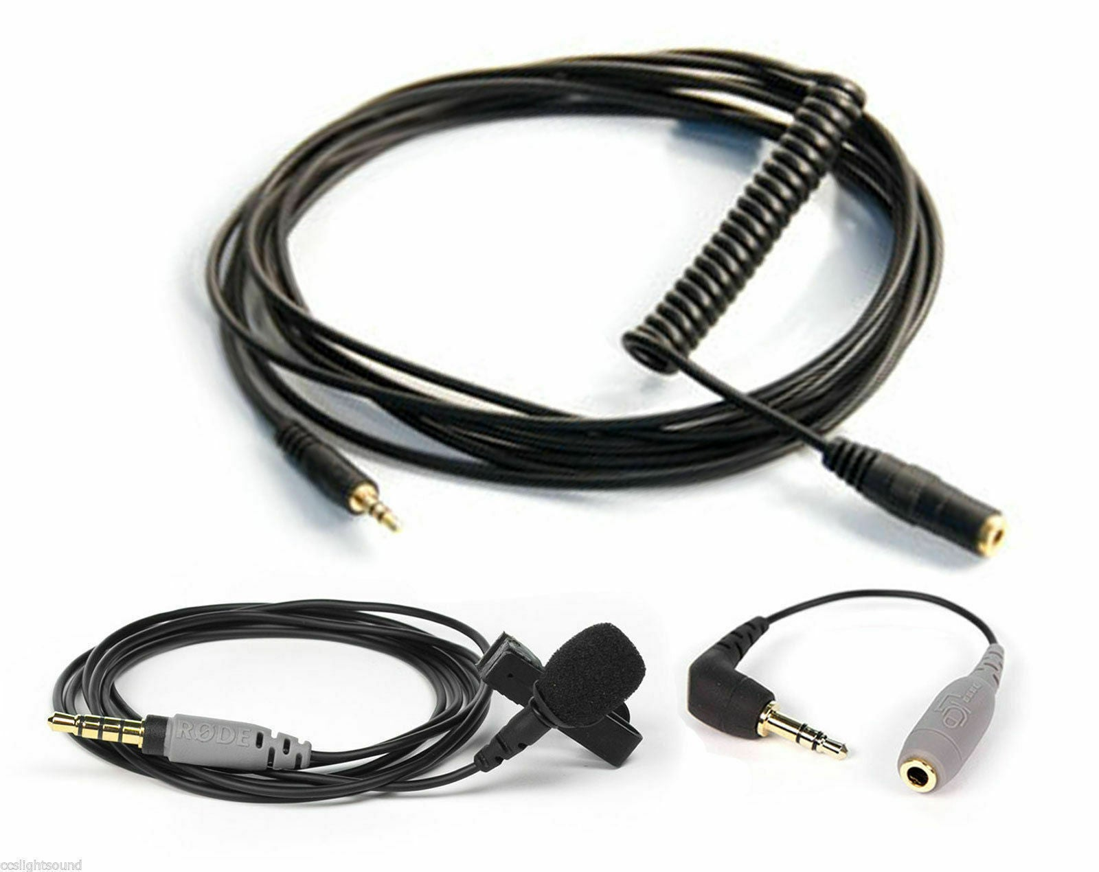 """RODE SMARTLAV+ LAVALIER MIC FOR SMART PHONES WITH VC1 CABLE AND SC3 ADAPTOR """