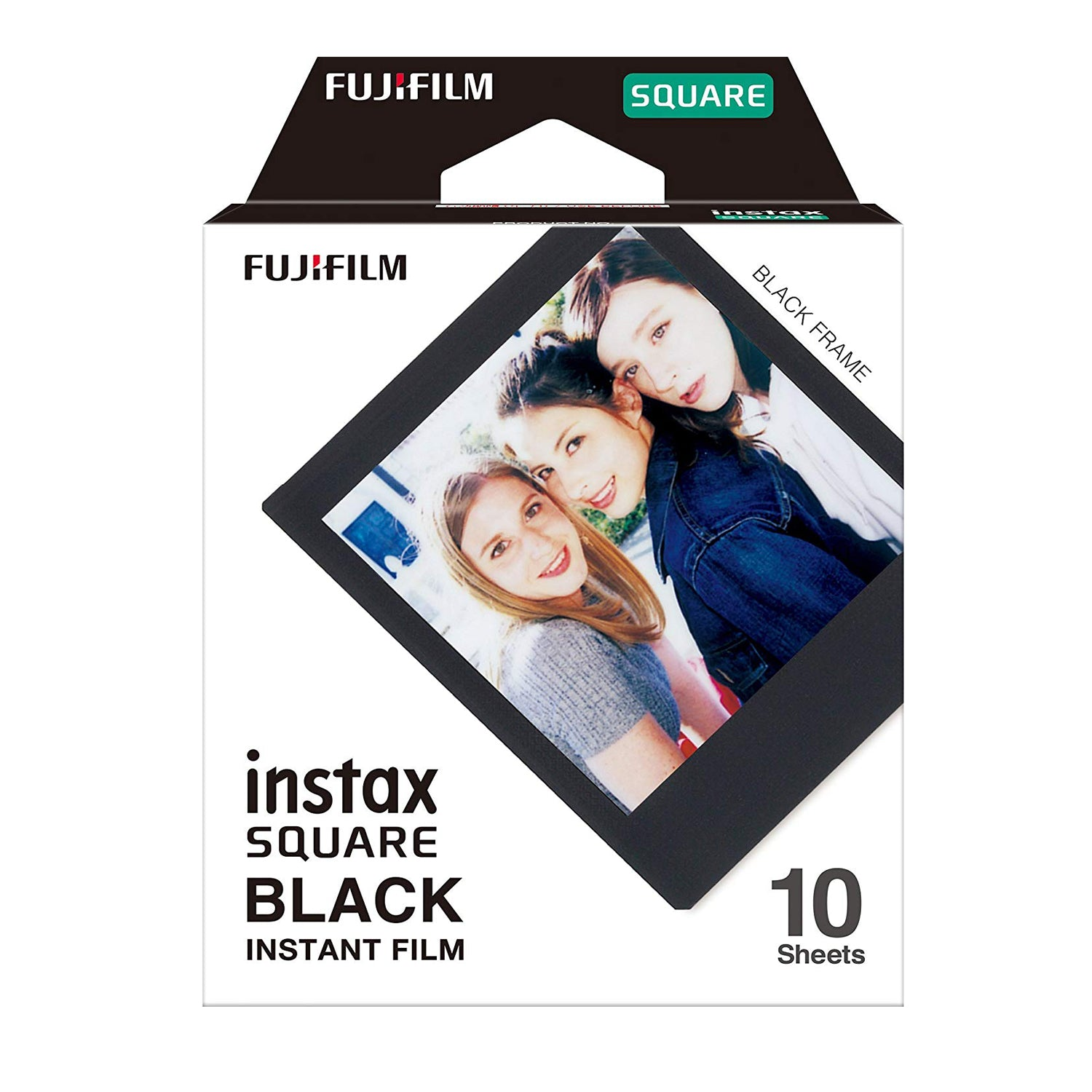 Fujifilm Instax Square 10 shot black & 10 shot white border Film Roll (Pack of 2)