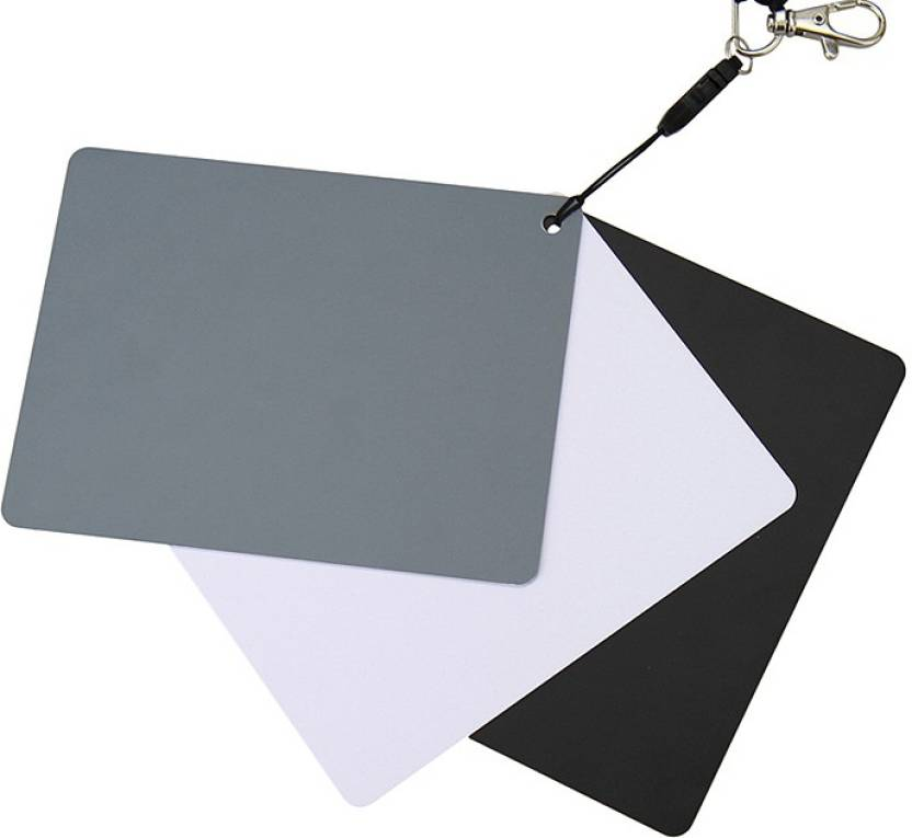 JJC GC3 Set of 3 Digital Grey white balance card , waterproof , portable With strap and detachable lanyard