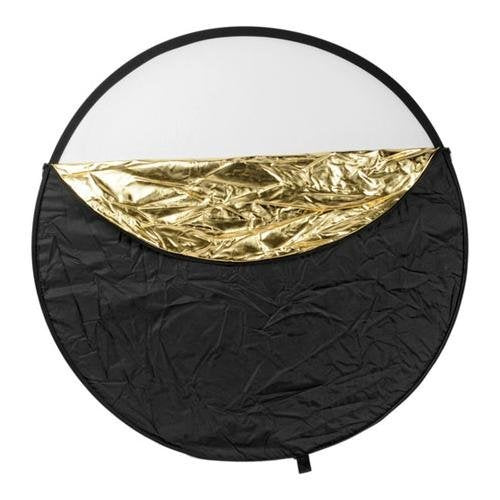 32 inch 5 in 1 Translucent Silver Gold White and Black Collapsible Round Multi Disc Light Reflector for Studio or Any Photography Situation!